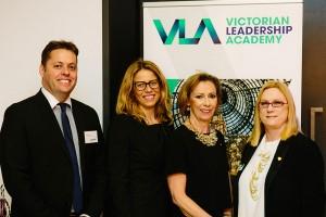 Dr Damian West, VPSC Deputy-Commission, Emma Eastwood, Director Victorian Leadership Academy, Carmel McGregor, Belinda Clark QSO