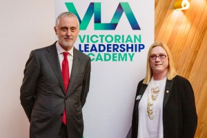 Gavin Jennings MLC and Belinda Clark , VPSC Commissioner