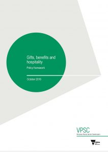 Policy framework cover with description