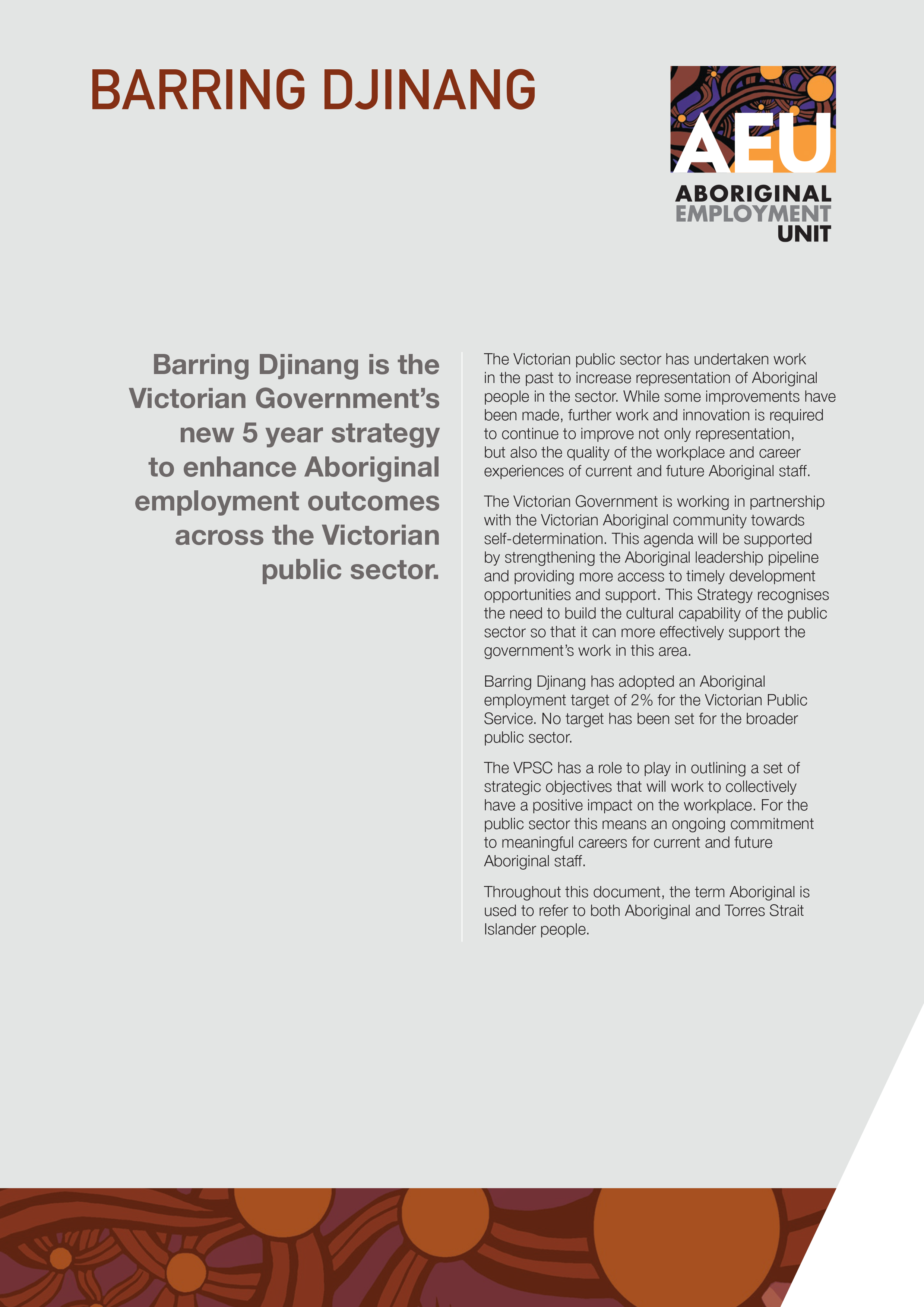 Section 2 of the Barring Djinang launch brochure